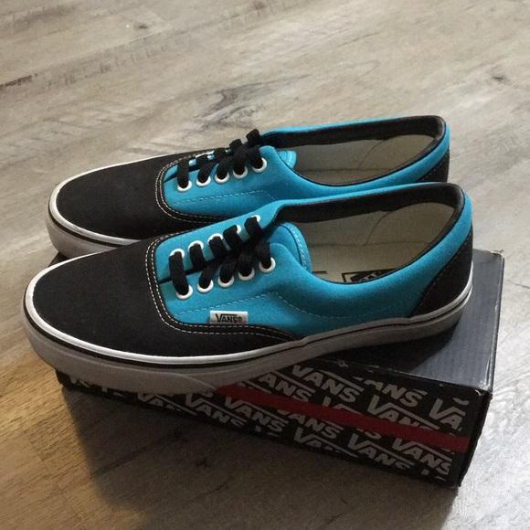 separation shoes b0312 e5f29 Vans Era — Black & Scuba Blue — Sk8 Shoes NWT